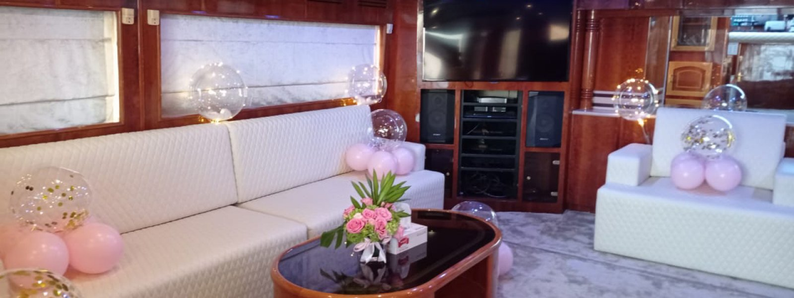 Luxury Interior of the yacht