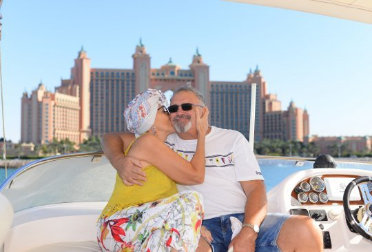 Valentine Day Couple on a Yacht in Dubai