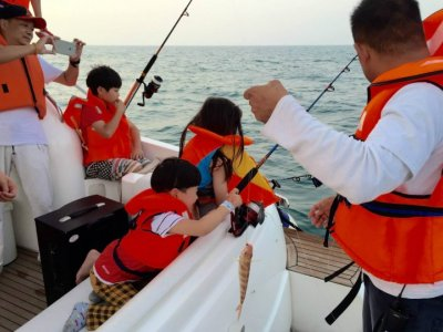 Fishing in Dubai with family