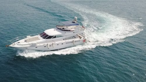Chartered cozmo 75 yacht for cruise